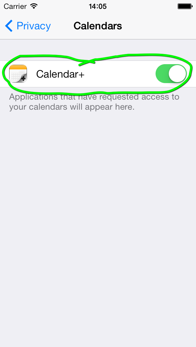 Enable Calendar+
